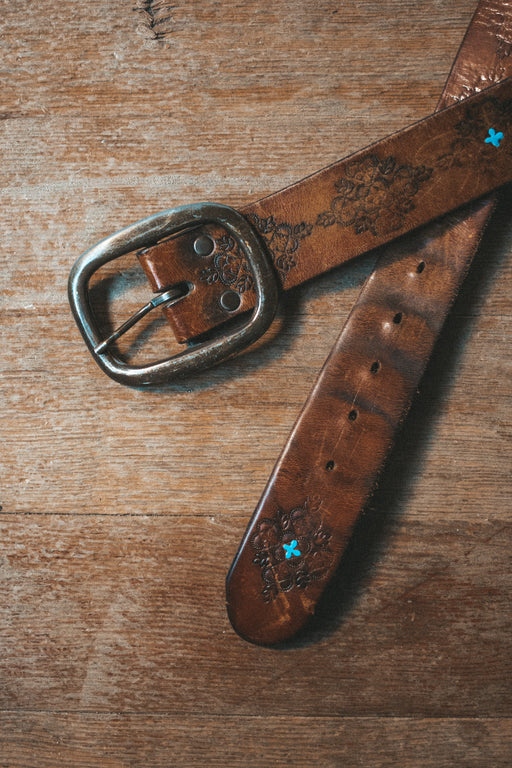 KJB Reclaimed Vintage Blue Detail Belt