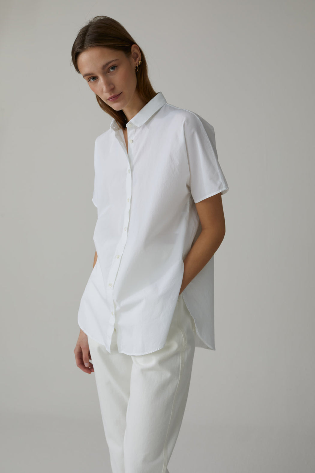 CLOSED POPLIN SHIRT BLOUSE IN WHITE