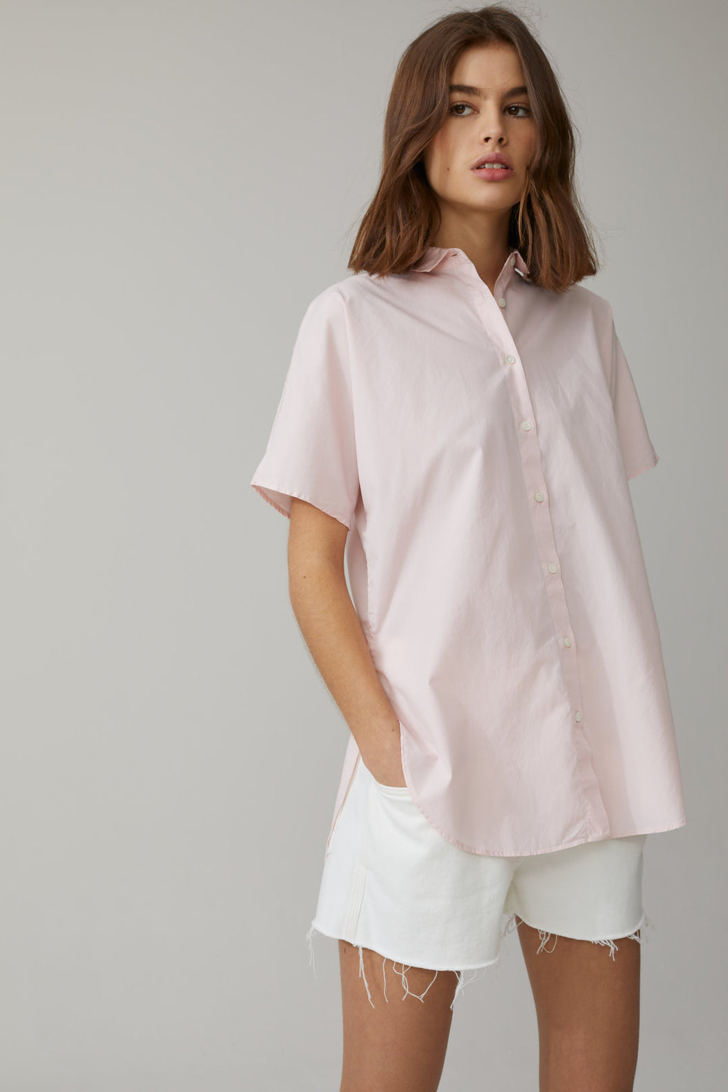 CLOSED POPLIN BLOUSE IN SOFT PINK