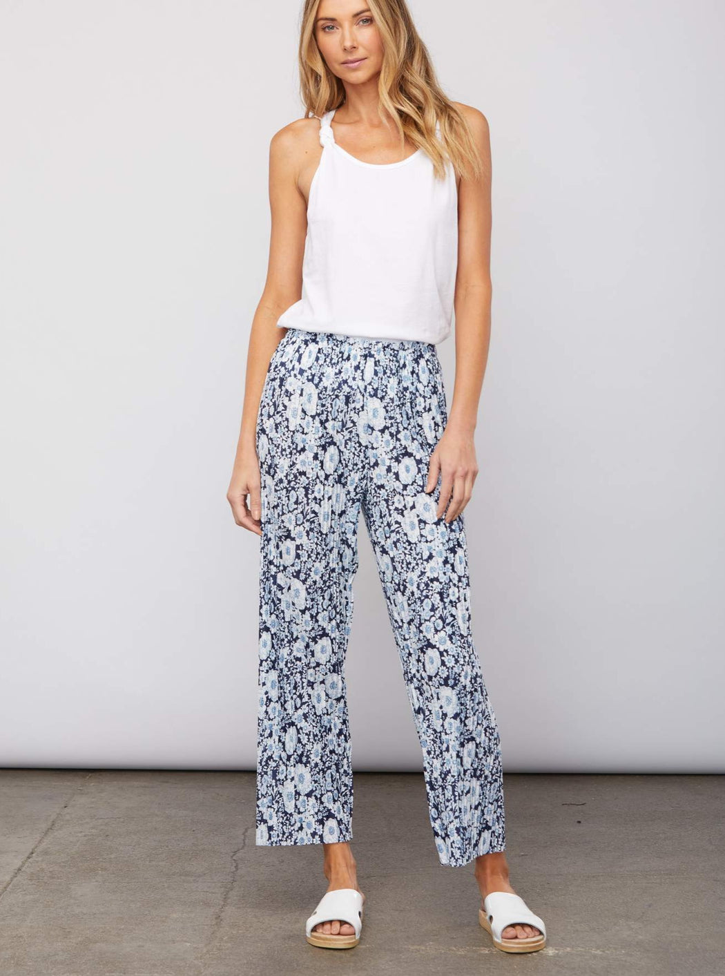 Sundays Swank Pant in Blue Floral