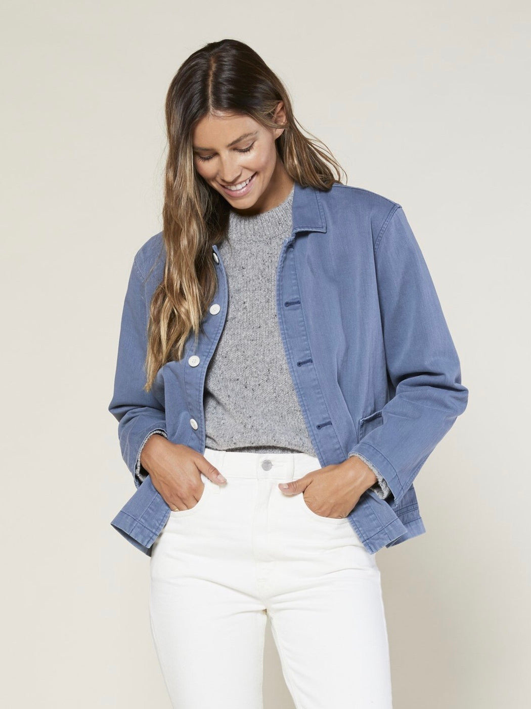 Outerknown Zion Chore Jacket in French Blue
