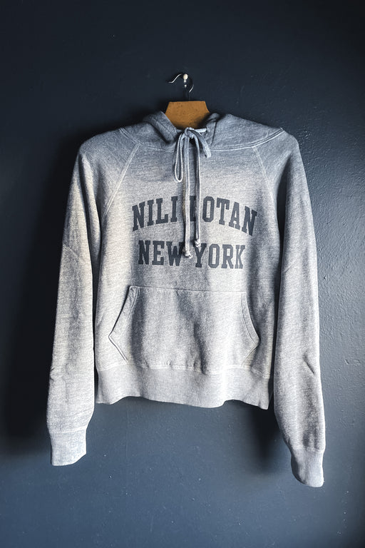 Nili Lotan New York Hoodie in Heather Grey