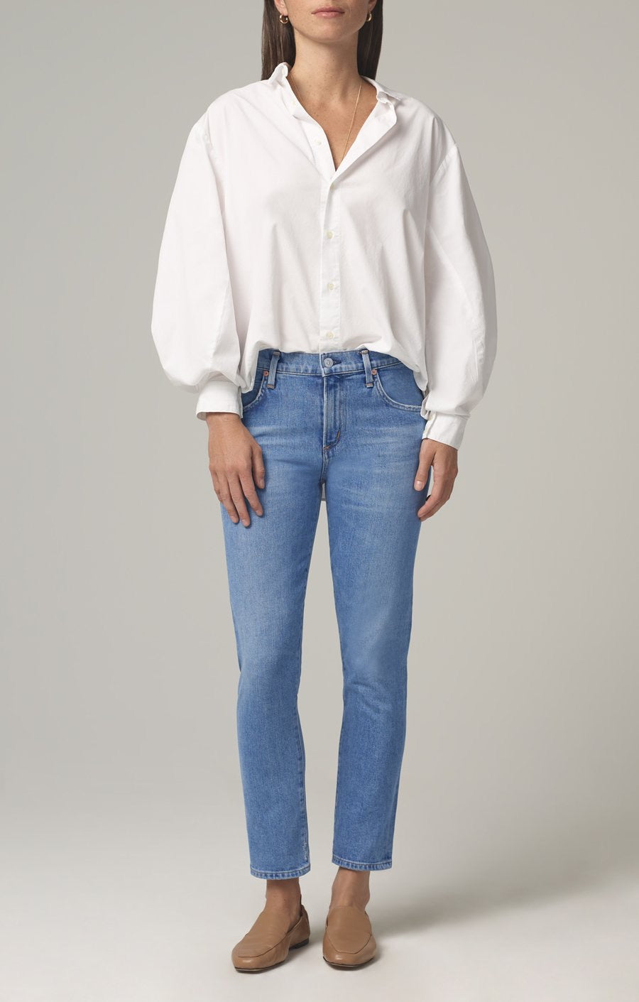 Citizens of Humanity Elsa Mid Rise Slim Fit Crop in Myth