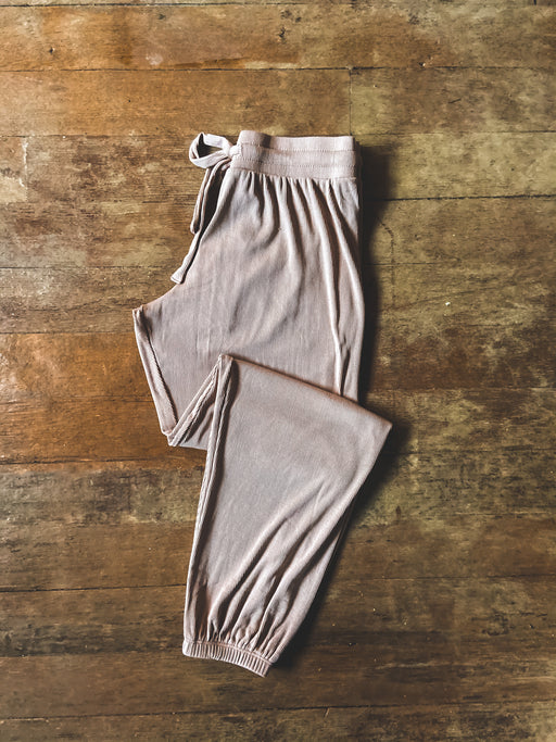 LNA Ribbed Jogger in Nude