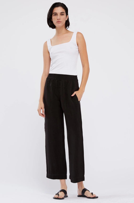 Stateside Cupro Wide Leg Pant in Black
