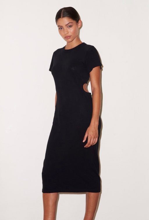 LNA MAYER TEE DRESS IN BLACK