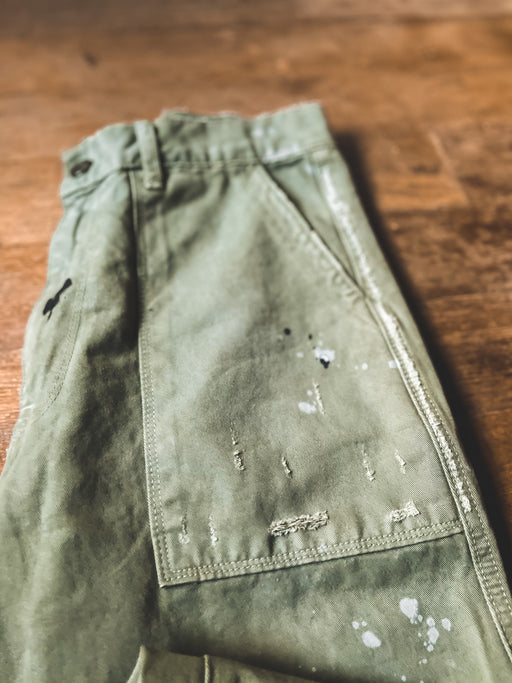 NSF Sedona Painted Baker Pant in Paint Fatigue
