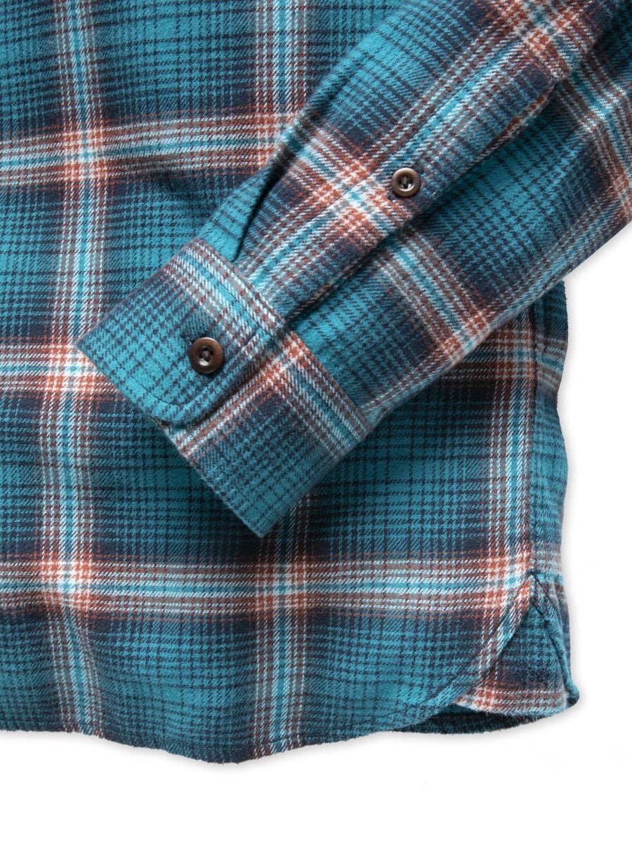 Outerknown Men's Transitional Flannel Shirt in Nile Blue Marin Plaid