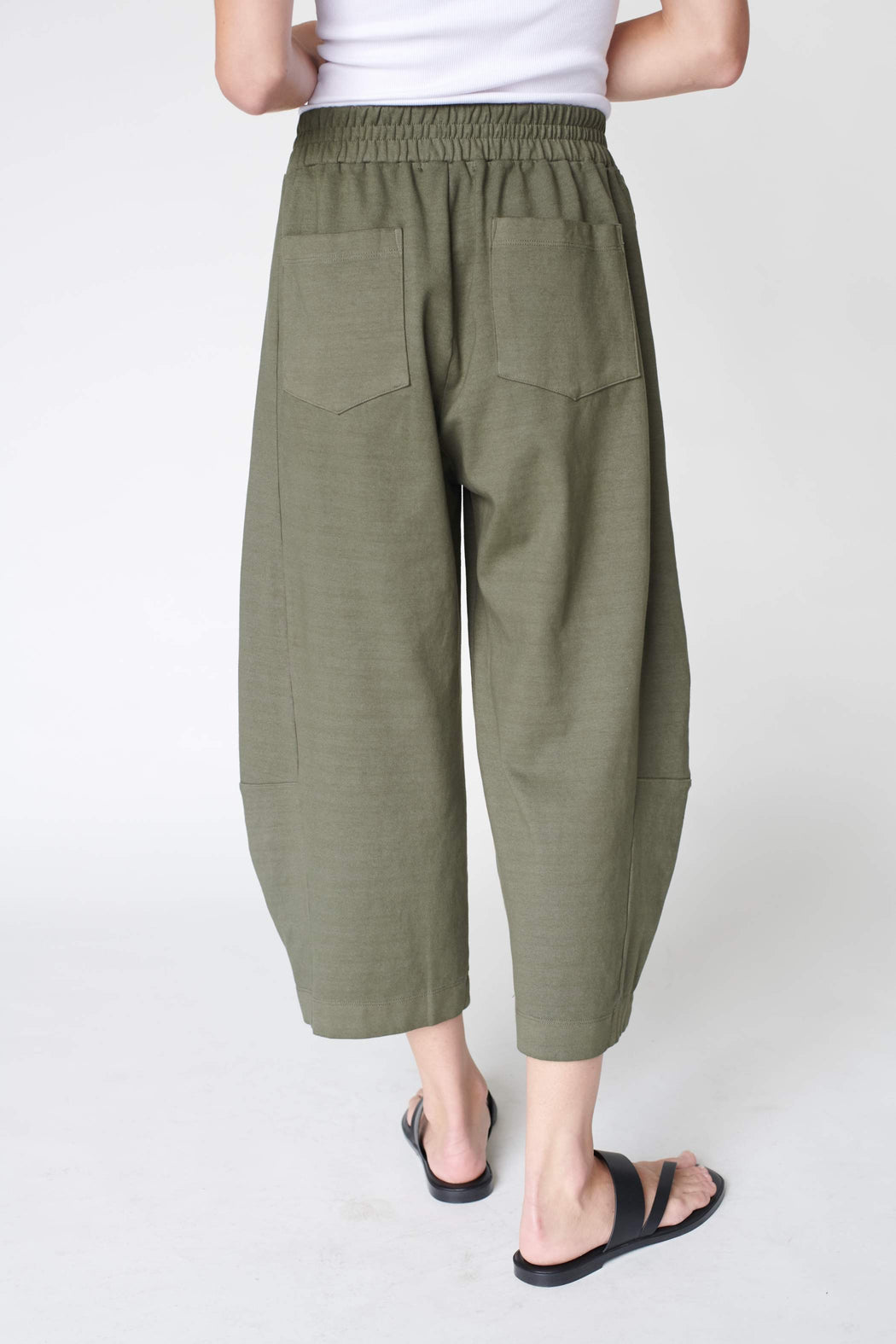 Stateside Ponte Structured Side-Panel Sweatpant in Army