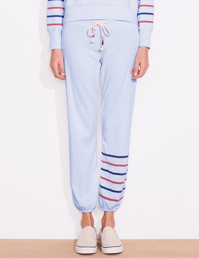 Sundry Mini Hearts Striped Sweatpants