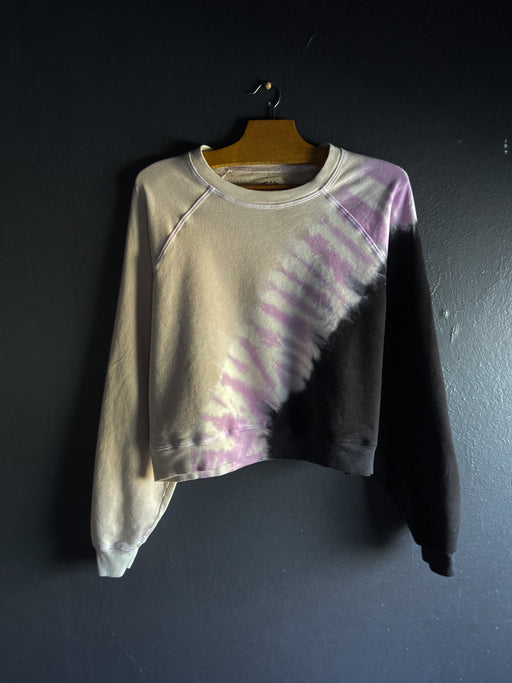 Electric & Rose Ronan Pullover in Onyx, Lavender and Sand