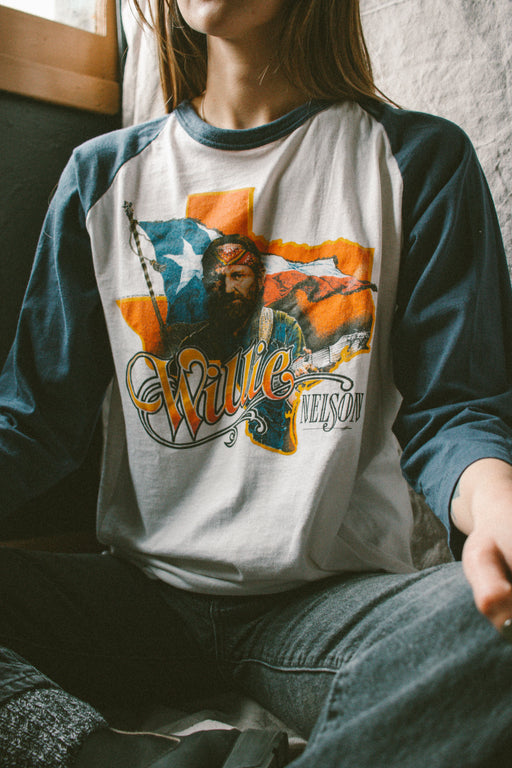 KJB Reclaimed Willie Nelson Baseball Tee