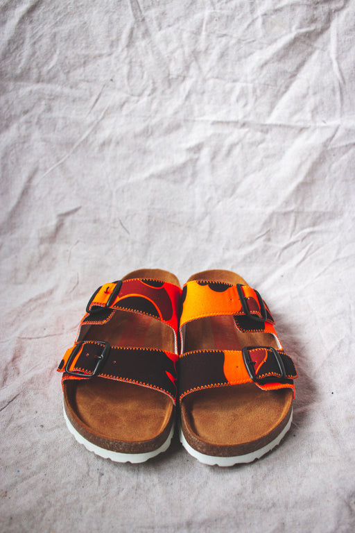 Magnafied Thora 2 Buckle Sandals | Orange Camo