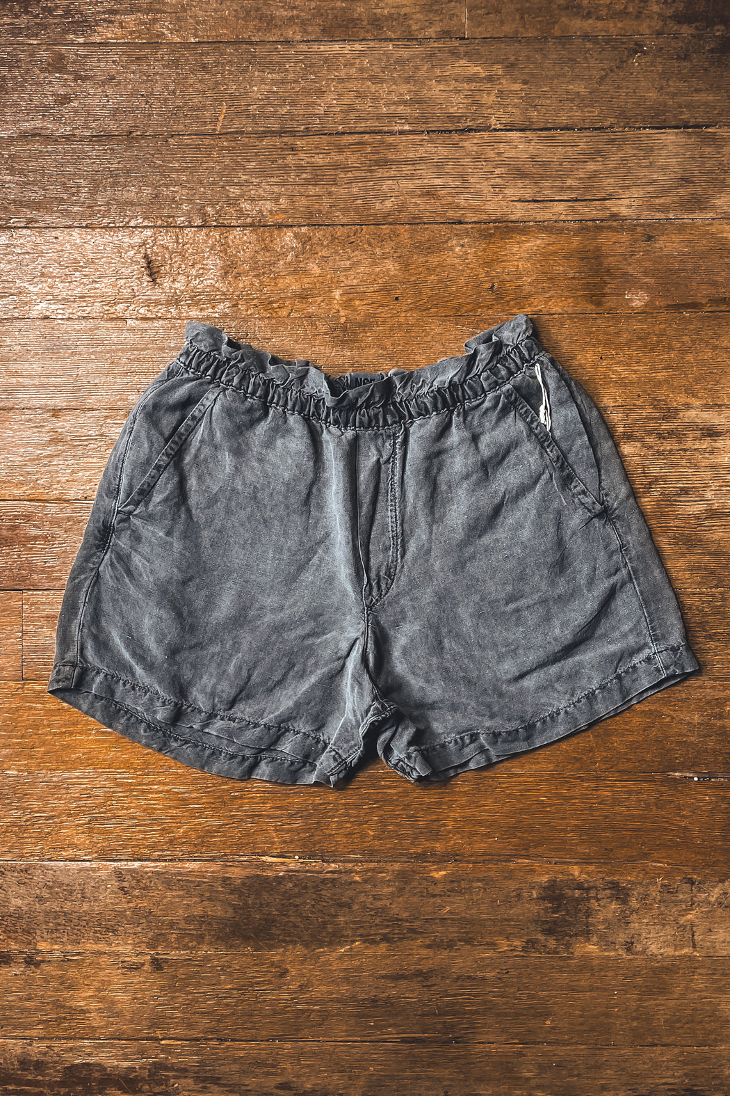 NSF Joey Elastic Waist Short in Pigment Black