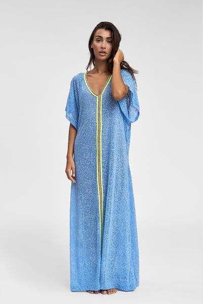 Pitusa Inca Abaya Dress in Blue