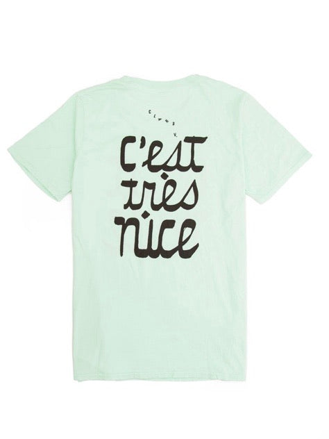 Clare V. C'est Nice Original Fit Tee in Mint
