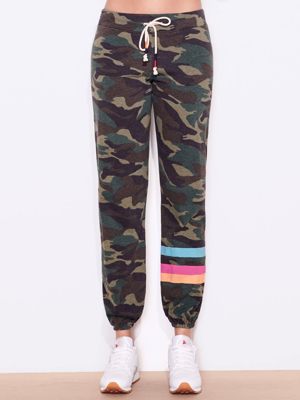 Sundry Stripes Camo Sweatpants