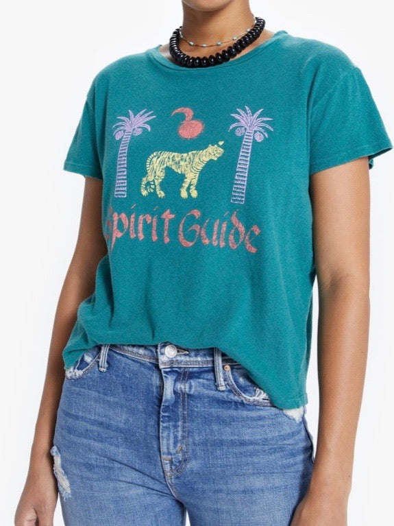 Mother Denim The Sinful Tee in Spirit Guide