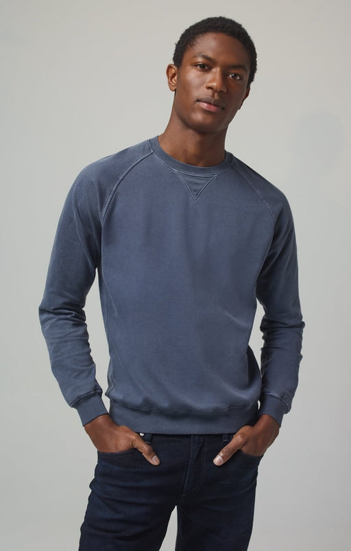 Citizens of Humanity Men's Collegiate Ralgan Crewneck in Vintage Navy