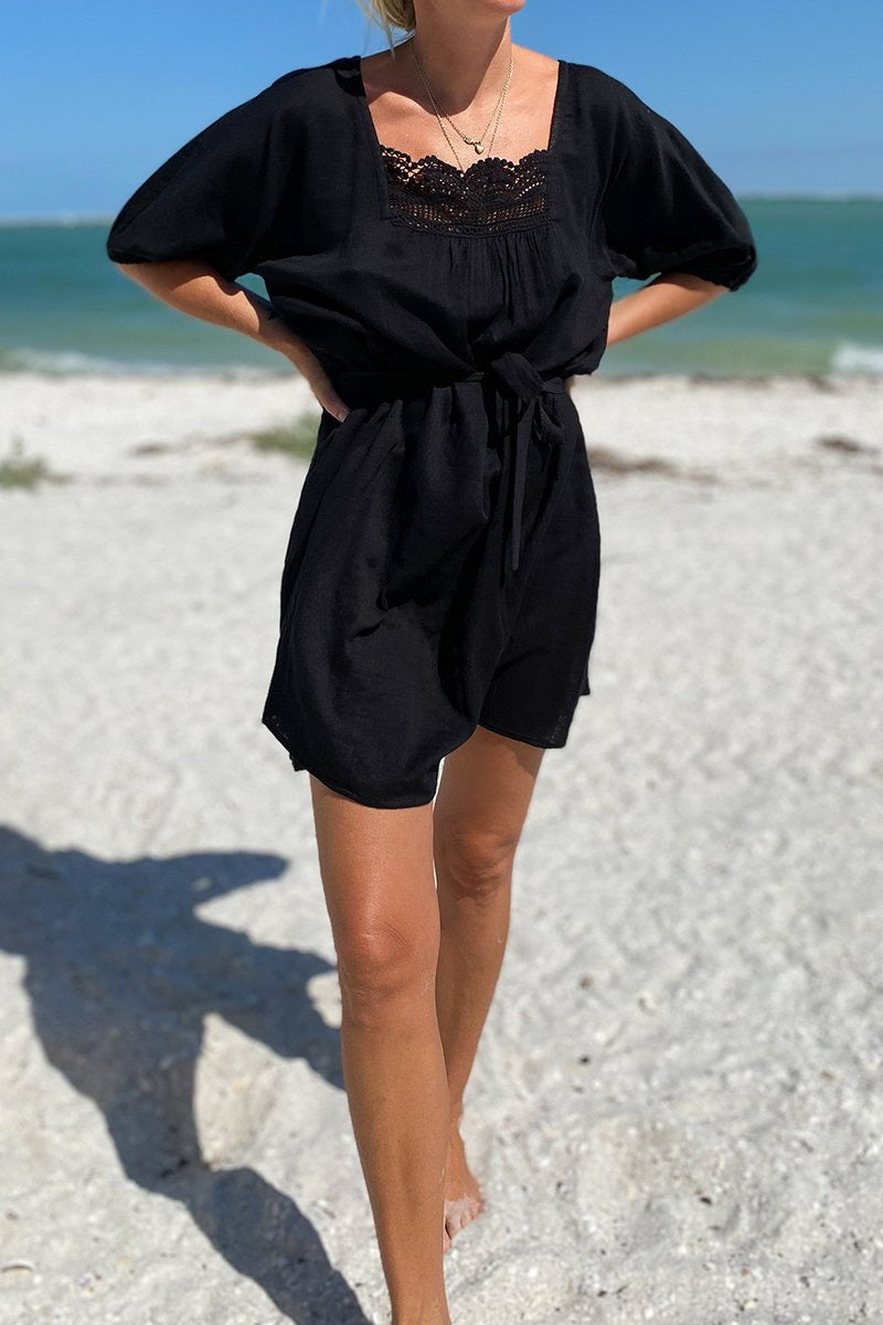 Emerson Fry Rosemary Dress in Black Double Gauze