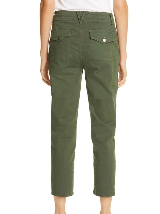 Veronica Beard Arya Cargo Straight Pants in Army Green