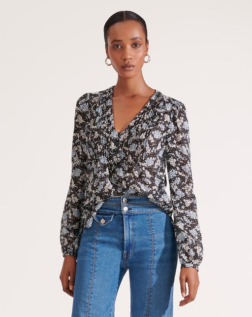 Veronica Beard Lowell Petal Printed Blouse