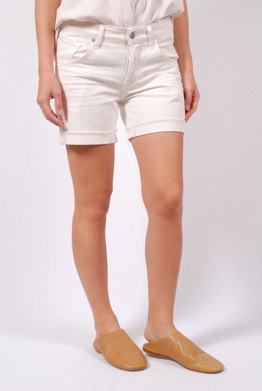 Citizens of Humanity Skyler Low Rise Loose Short in Optic White