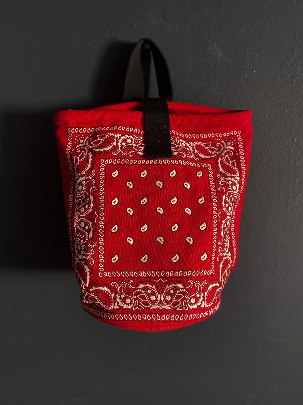Arizona Love Bandana Bucket Bag in Red