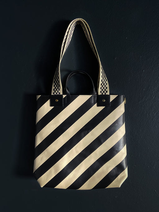 Clare V Striped Annie Tote