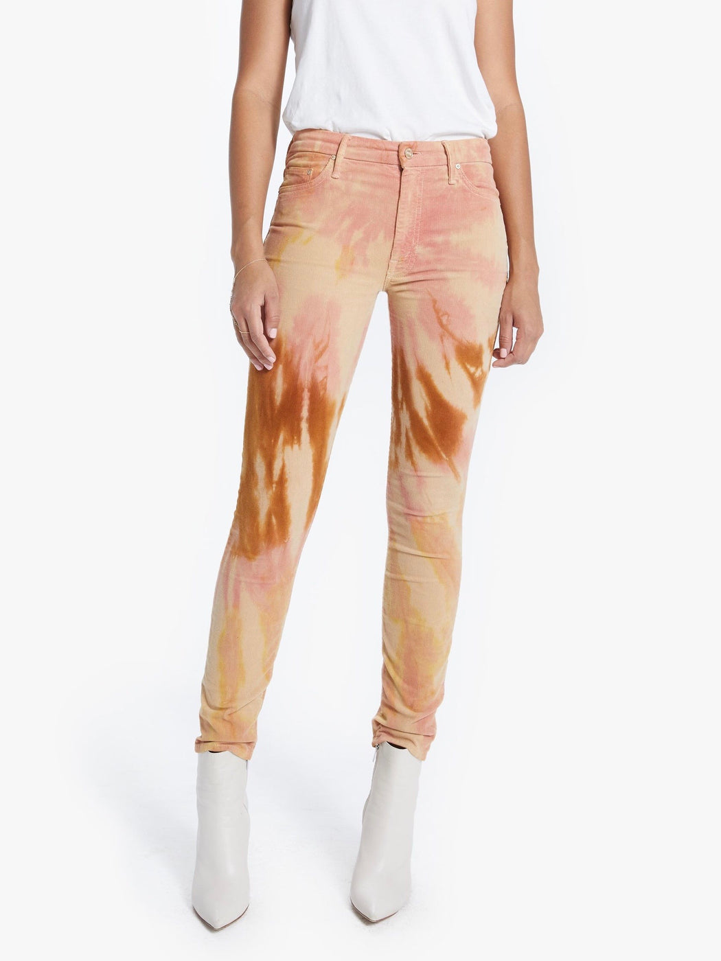Mother The High Waisted Looker Tie-Dye Hopscotch