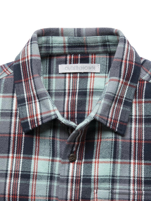 Outerknown Men's Rambler Shirt in Aquifer Emerson Plaid