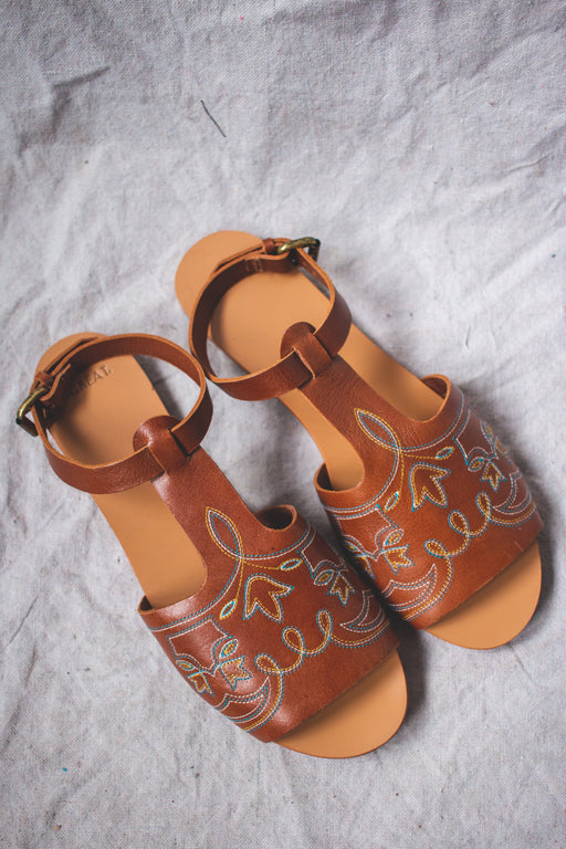 The Great Western Cognac Sandals