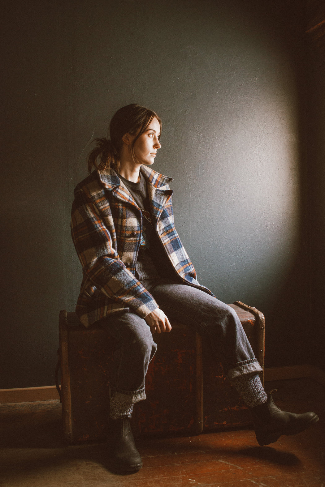 KJB Reclaimed Plaid Coat