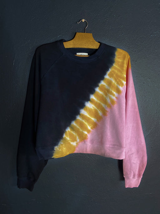 Electric and Rose Ronan Pullover in Poppy Pink, Marigold, and Onyx