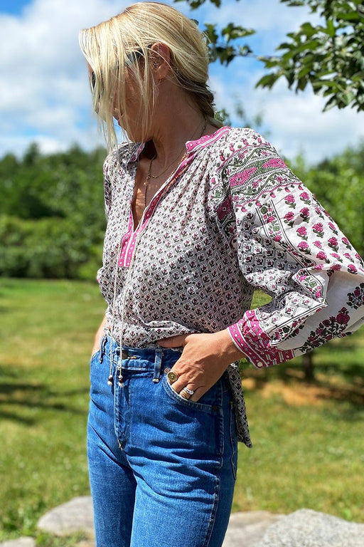 Emerson Fry Heritage Top in Pink Yarrow