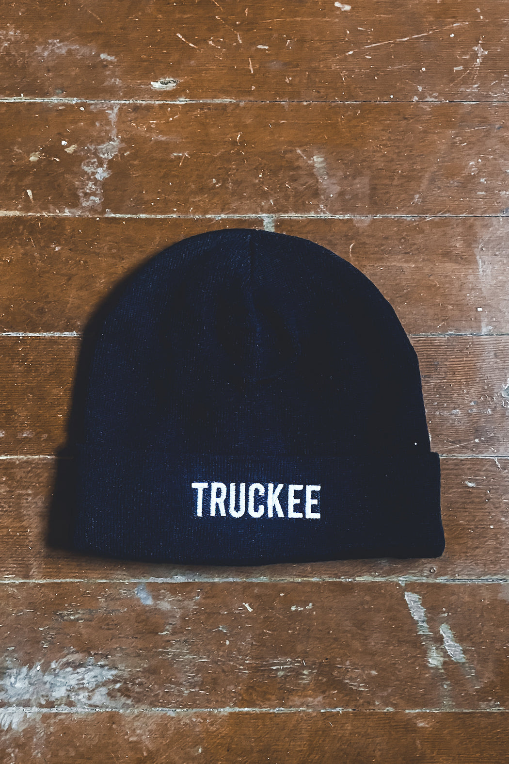Tahoe Soul Truckee Embroidered Beanie in Black