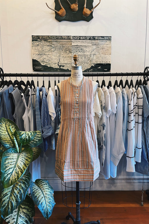 Faherty Isha Dress in Beach Stripe