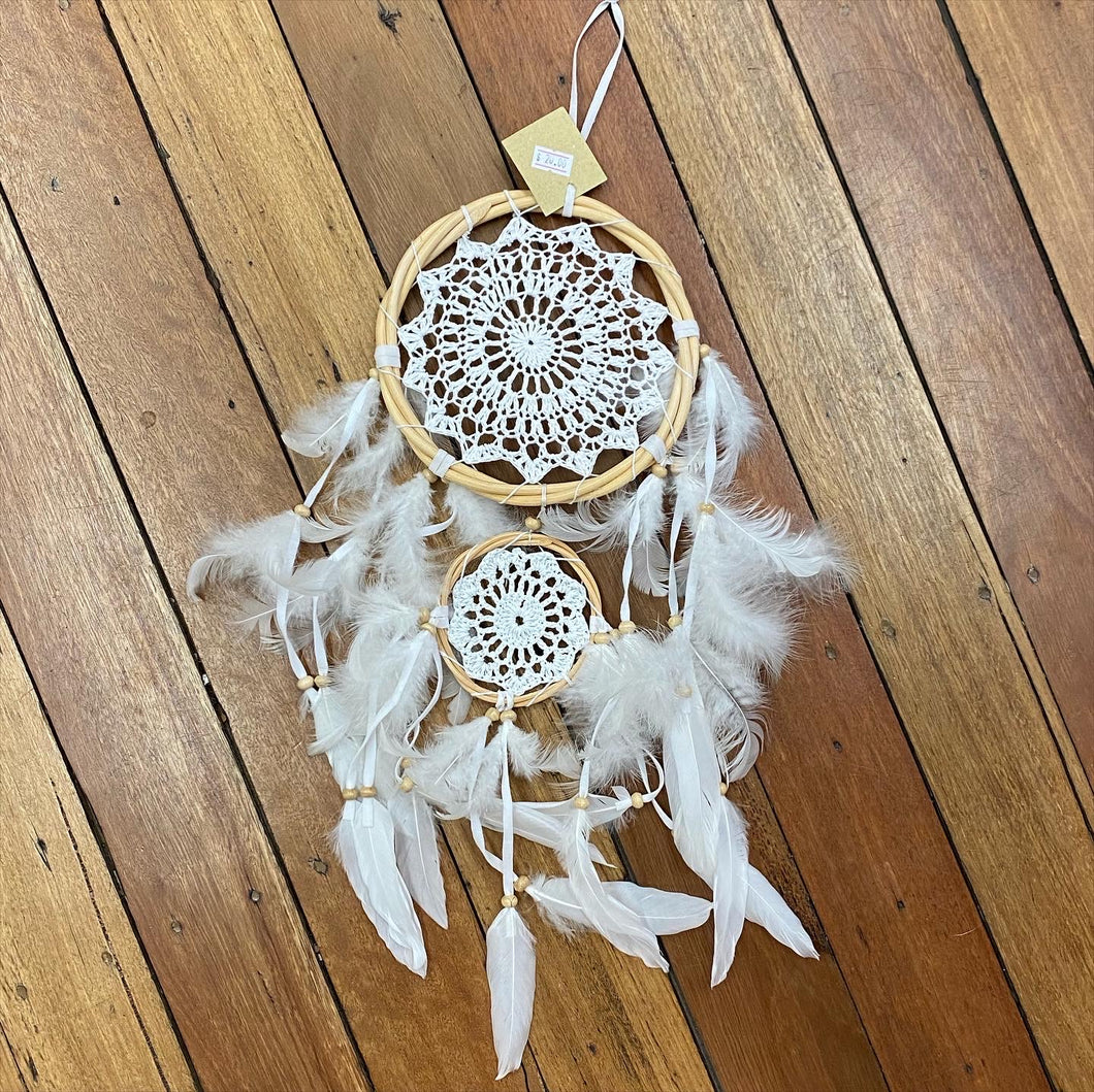 Double Feathered Dream Catcher