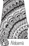 State Outline Zentangle