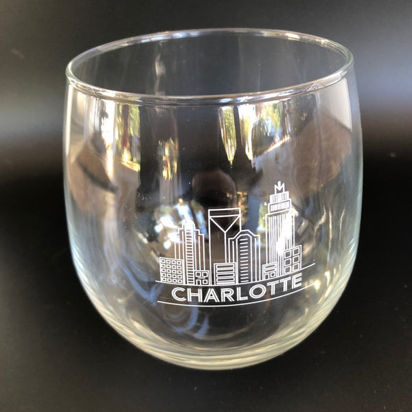 Charlotte, NC Red Wine Glass