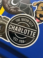 Charlotte NC Circle Bumper Sticker