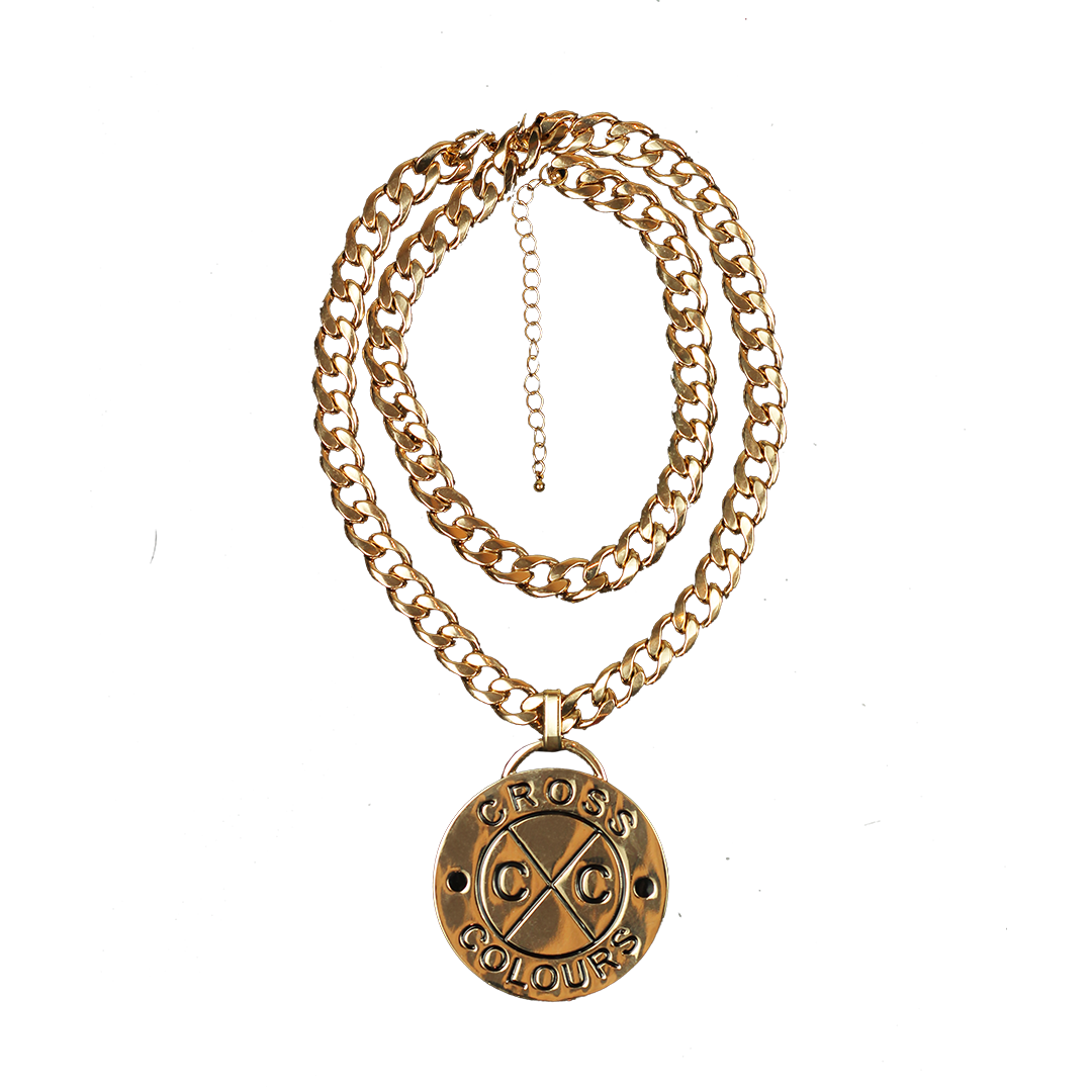 Cross Colours Logo Medallion - Gold