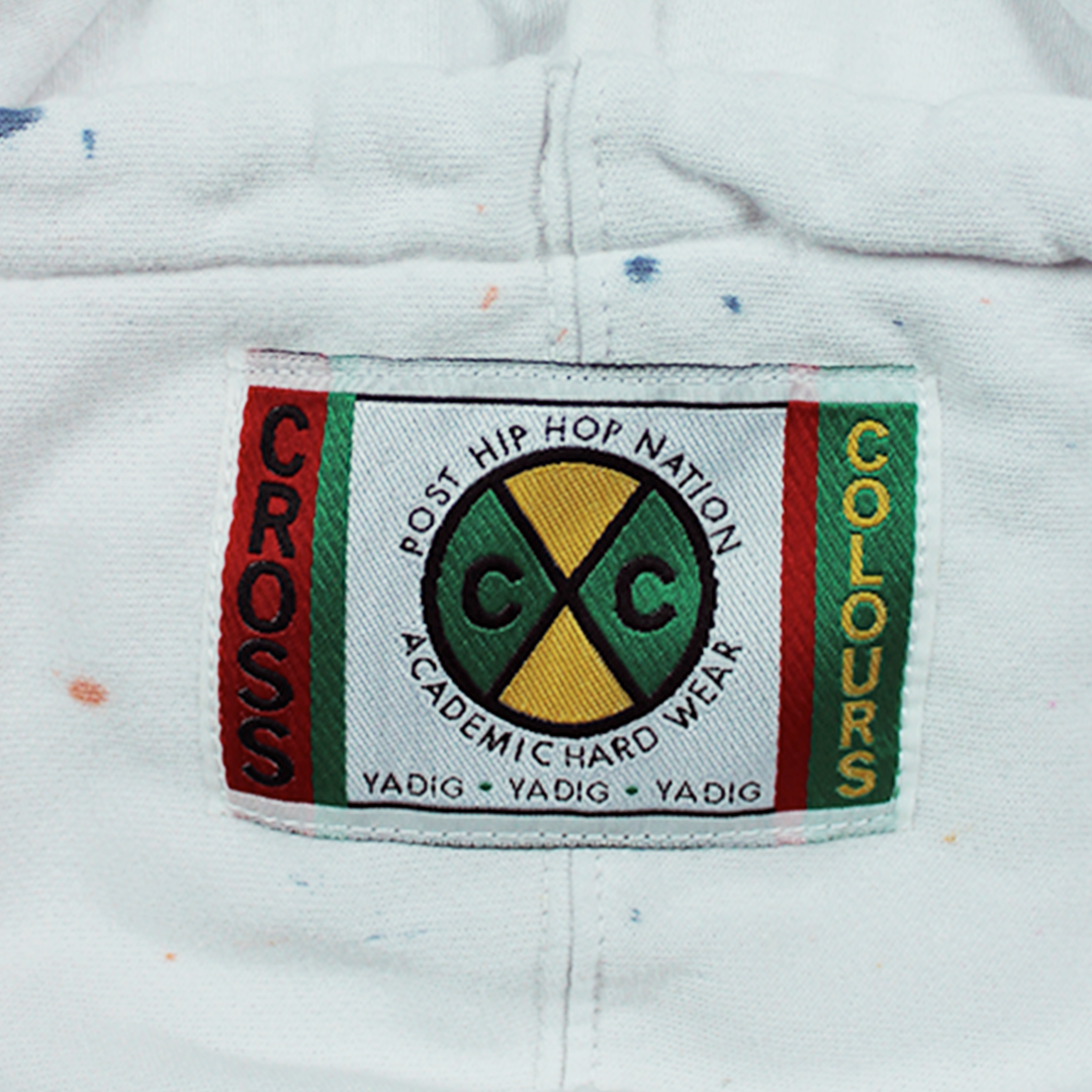 Cross Colours Circle Logo Crop Hoodie - Tie Dye