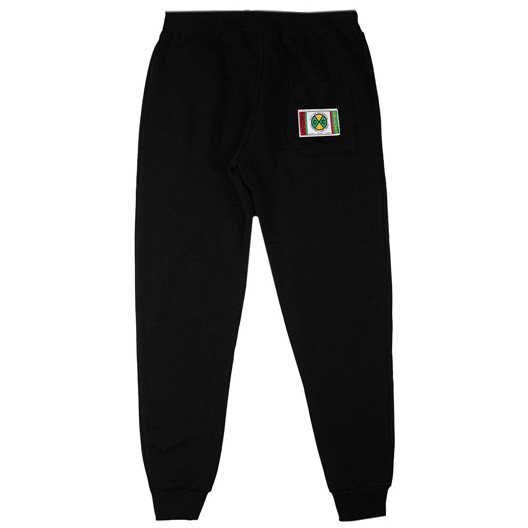 Cross Colours Circle Logo Jogger - Black