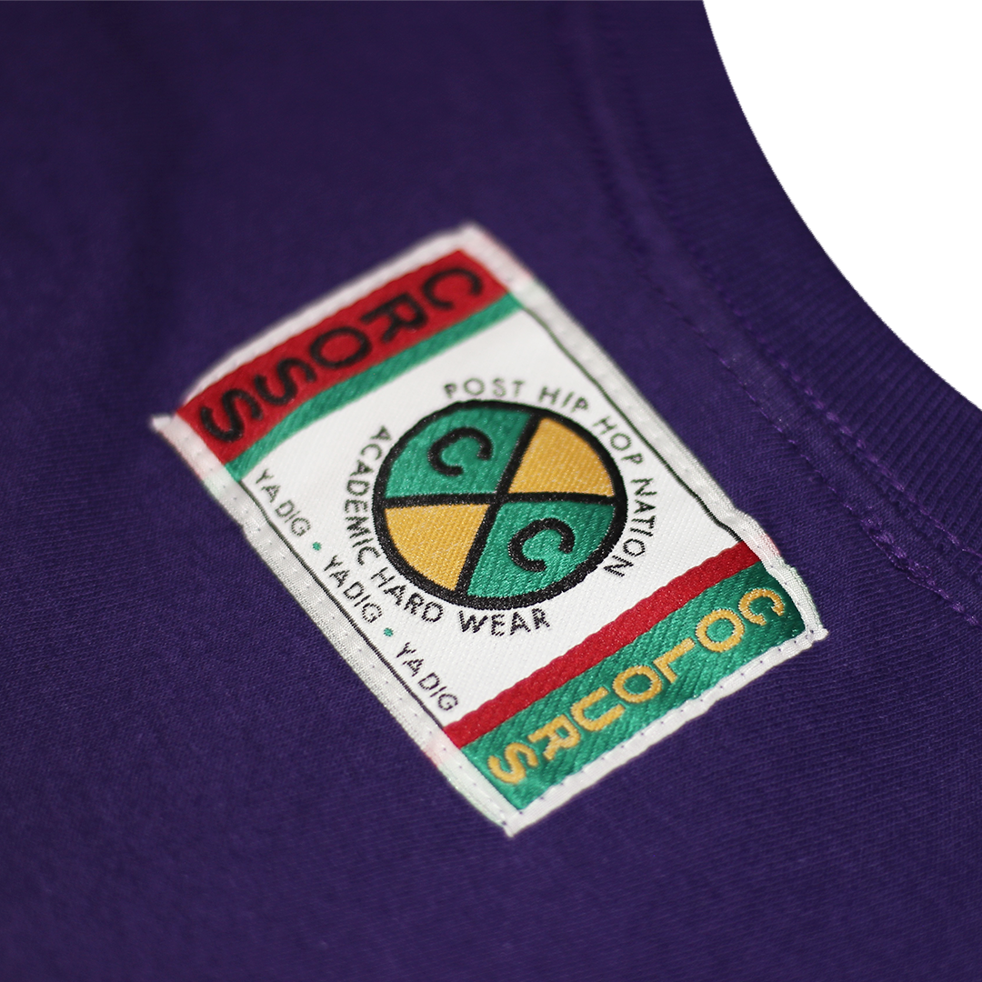 Cross Colours Circle Logo L/S T-Shirt - Purple