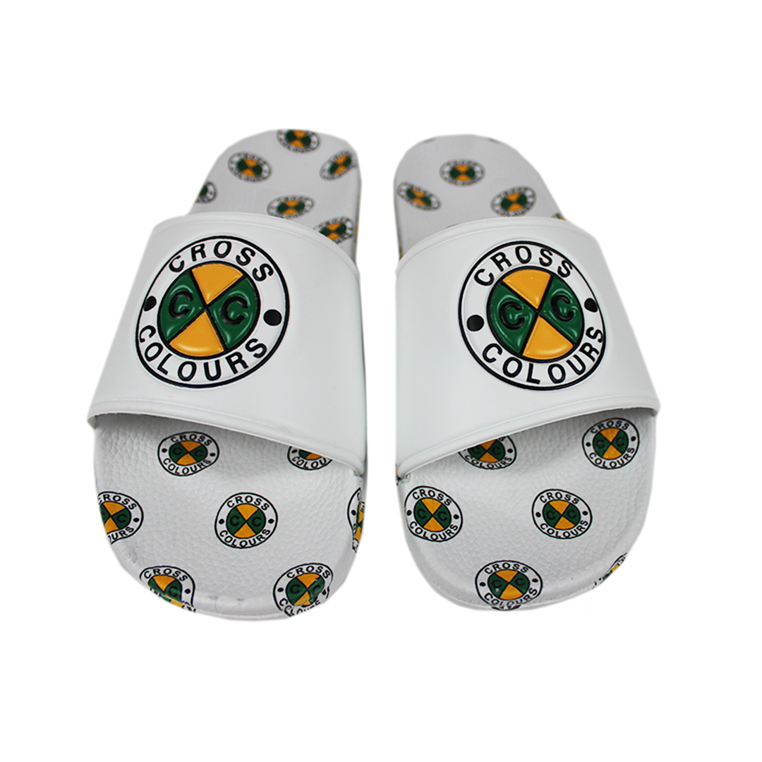 Cross Colours Circle Logo Slides - White