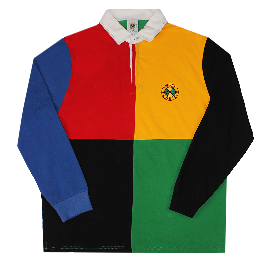 Cross Colours Color Block L/S Rugby - Multi