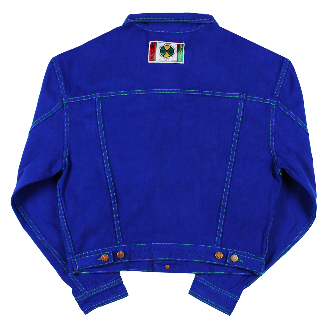 Cross Colours Classic Exaggerated Shoulder Jacket - Cobalt Blue