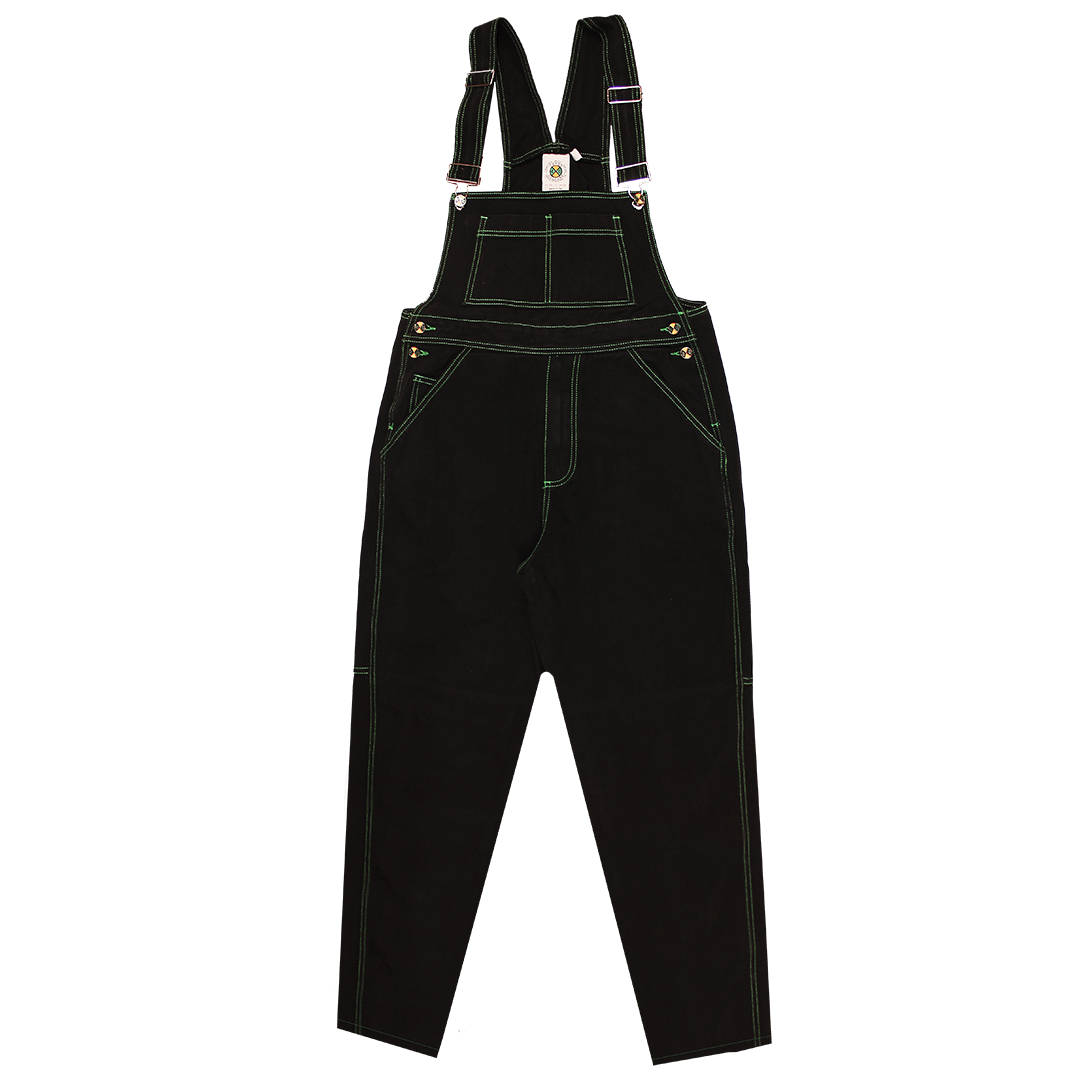 Cross Colours Classic Brushed Twill Overalls - Black