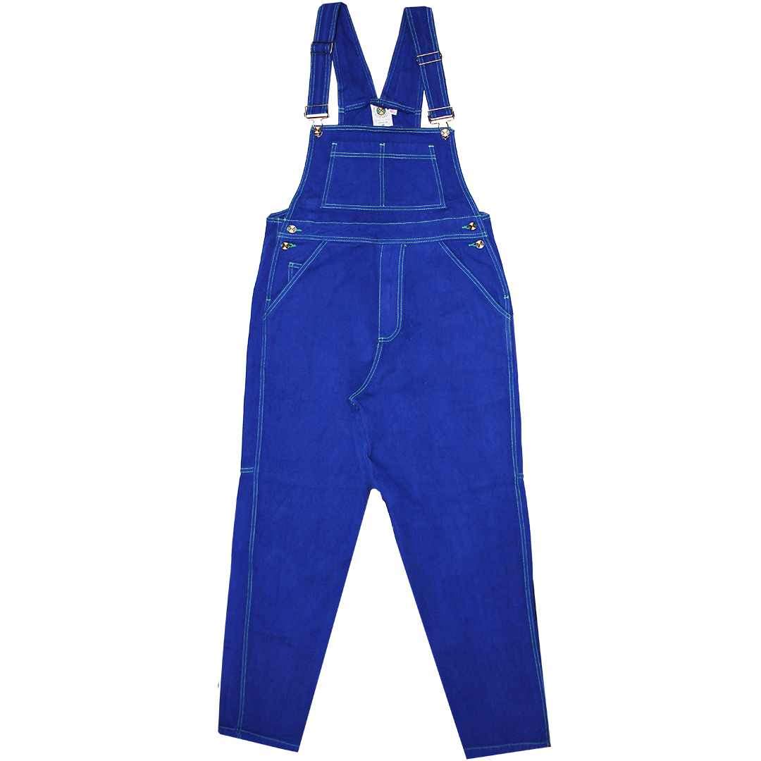 Cross Colours Classic Brushed Twill Overalls - Cobalt Blue